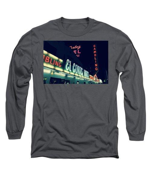 El Cortez Hotel At Night Long Sleeve T-Shirt