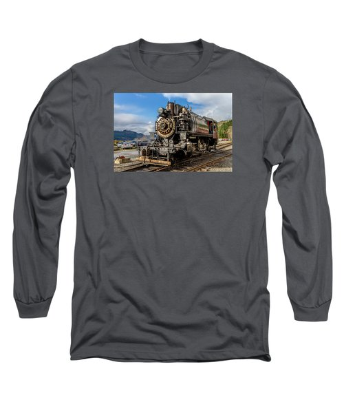 Long Sleeve T-Shirt featuring the photograph Elbe Steam Engine 17 - 2 by Rob Green