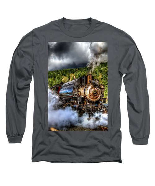 Elbe Steam Engine #17 Hdr Long Sleeve T-Shirt