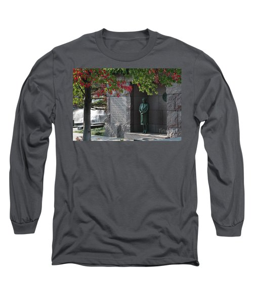 Eleanor's Alcove At The Fdr Memorial In Washington Dc Long Sleeve T-Shirt