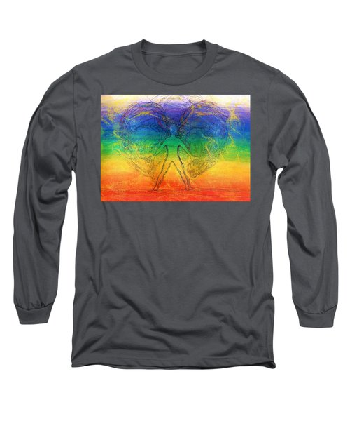 Electric Angel Long Sleeve T-Shirt by Denise Fulmer