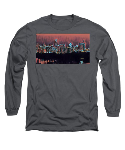 Electric Austin At Dusk Long Sleeve T-Shirt