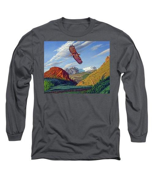 Electric Peak With Hawk Long Sleeve T-Shirt