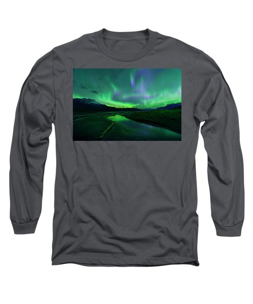 Long Sleeve T-Shirt featuring the photograph Electric Skies Over Jasper National Park by Dan Jurak