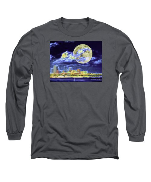 Electric Tampa Long Sleeve T-Shirt by Ken Frischkorn