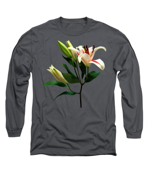 Elegant Lily And Buds Long Sleeve T-Shirt