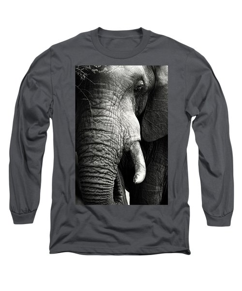 Elephant Close-up Portrait Long Sleeve T-Shirt