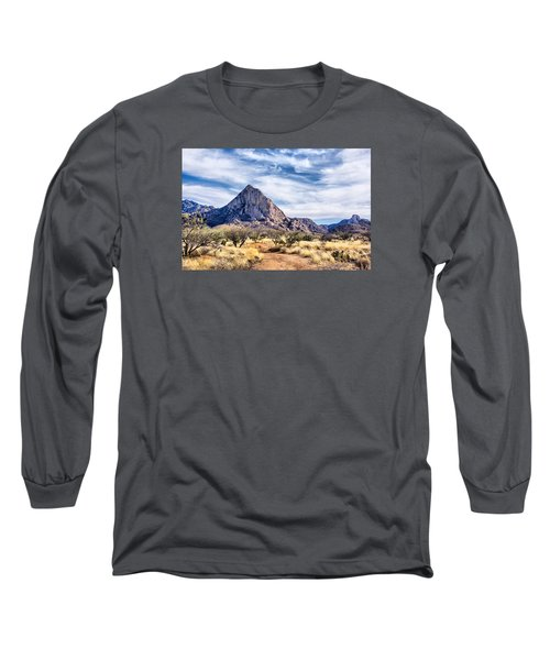 Long Sleeve T-Shirt featuring the photograph Elephant Head by Barbara Manis