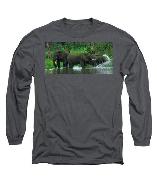 Elephant Shower Long Sleeve T-Shirt
