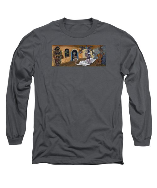 Eleven Minutes After Midnight Long Sleeve T-Shirt by Claudia Goodell