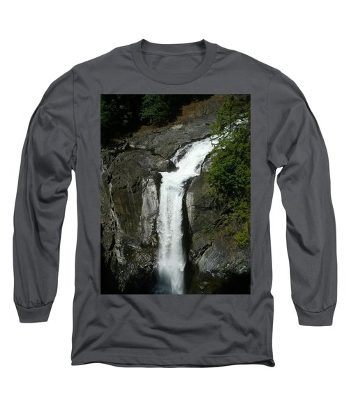 Long Sleeve T-Shirt featuring the painting Elk Falls  by 'REA' Gallery