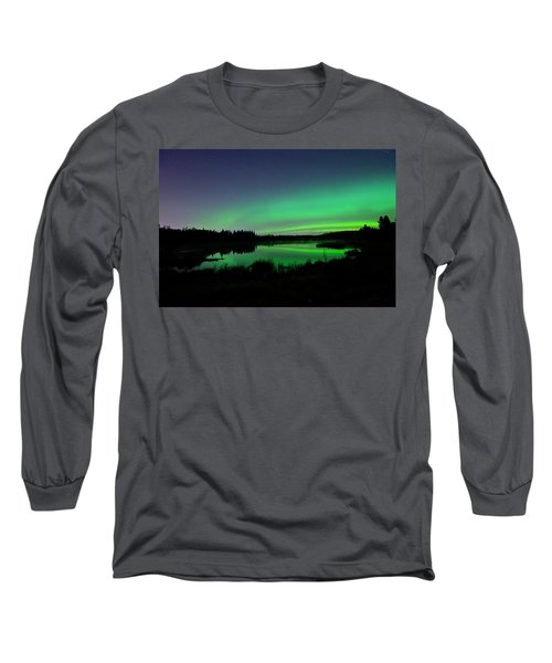 Elk Island Aurora Reflections Long Sleeve T-Shirt