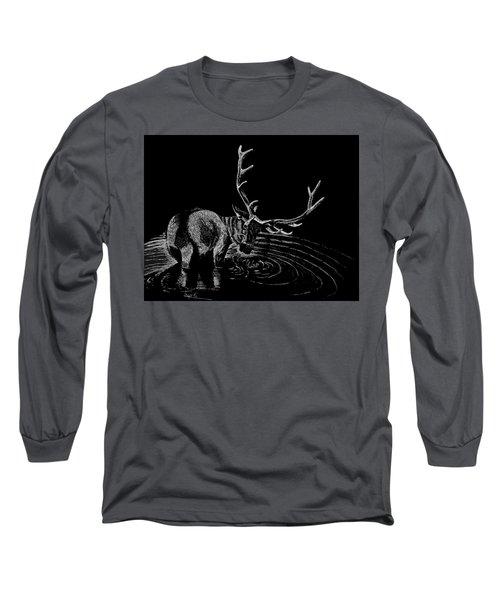 Elk Long Sleeve T-Shirt by Lawrence Tripoli