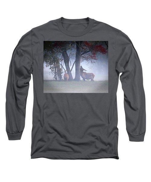 Elk Neck Scratch Long Sleeve T-Shirt by Lamarre Labadie