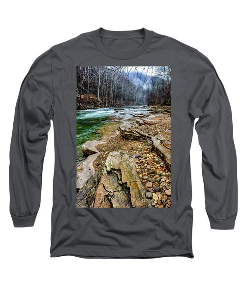 Long Sleeve T-Shirt featuring the photograph Elk River In The Rain by Thomas R Fletcher