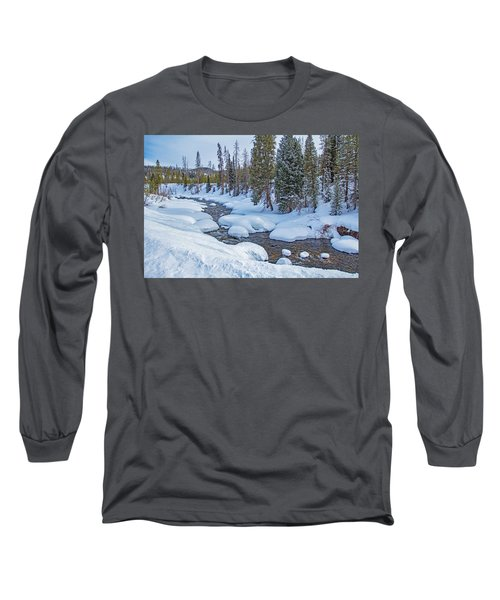 Elk River Long Sleeve T-Shirt by Sean Allen