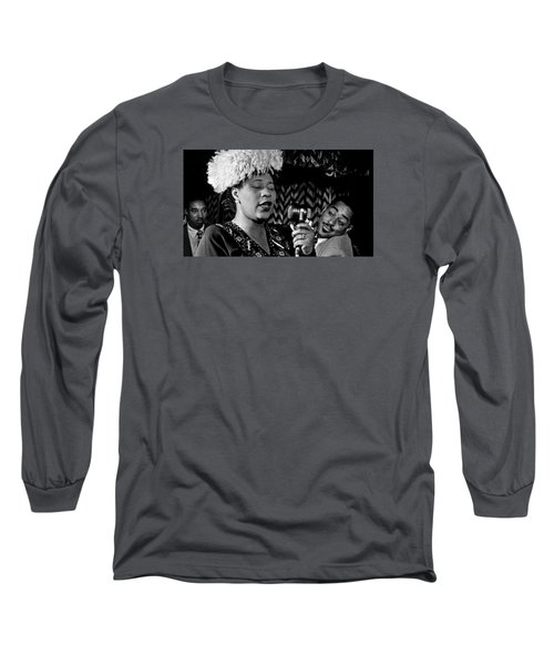 Ella Fitzgerald Dizzy Gillespie And Ray Brown William Gottlieb Photo Nyc 1947-2015 Long Sleeve T-Shirt by David Lee Guss