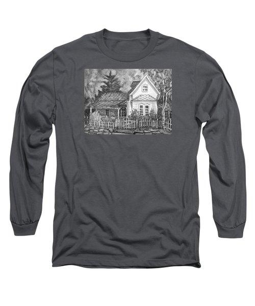 Elma's House In Bw Long Sleeve T-Shirt by Gretchen Allen