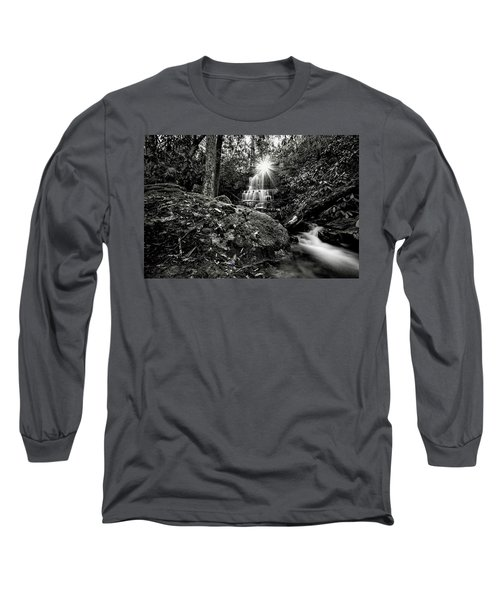 Elora Falls In Black And White Long Sleeve T-Shirt