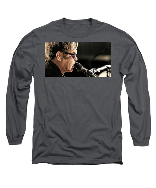 Elton John At The Mic Long Sleeve T-Shirt