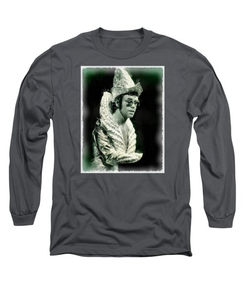 Elton John By John Springfield Long Sleeve T-Shirt by John Springfield