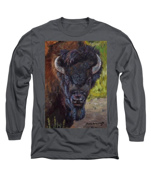 Elvis The Bison Long Sleeve T-Shirt