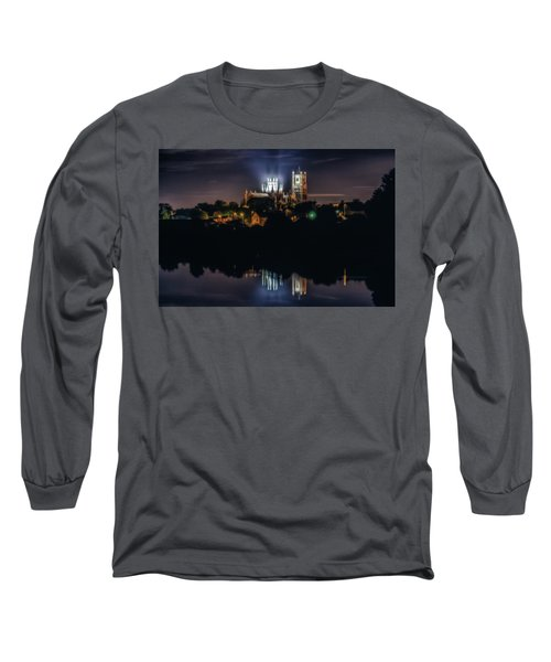 Ely Cathedral By Night Long Sleeve T-Shirt
