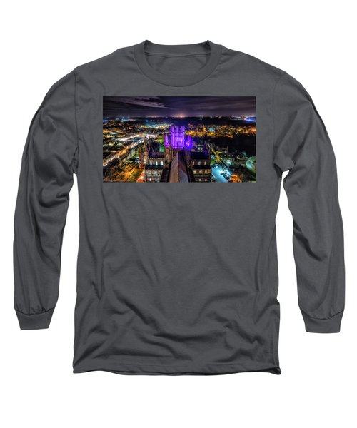 Ely Cathedral In Purple Long Sleeve T-Shirt