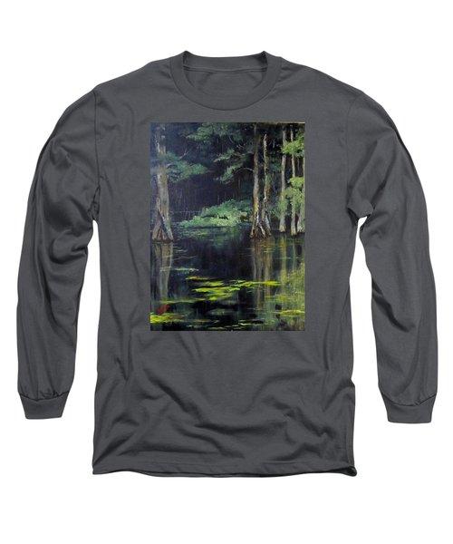 Emerald Bayou Long Sleeve T-Shirt by Barbara O'Toole