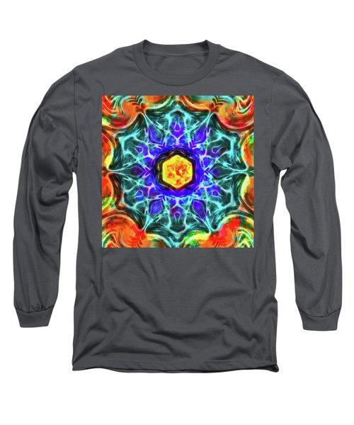 Emerald Circle Mandala Long Sleeve T-Shirt