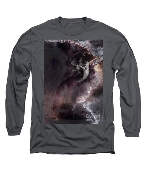 Emergent 1b - Textured Long Sleeve T-Shirt by Paul Davenport