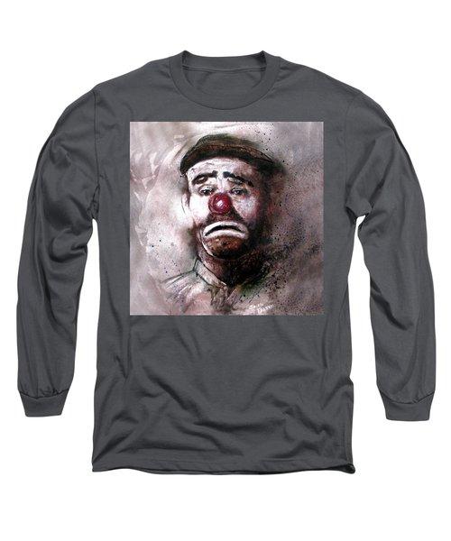 Emmit Kelly Clown Long Sleeve T-Shirt