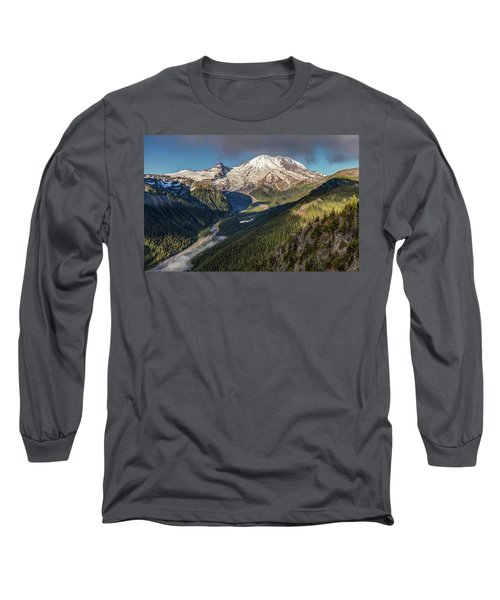 Long Sleeve T-Shirt featuring the photograph Emmons Vista Of Mount Rainier by Pierre Leclerc Photography