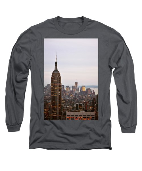 Long Sleeve T-Shirt featuring the photograph Empire State Building No.2 by Zawhaus Photography