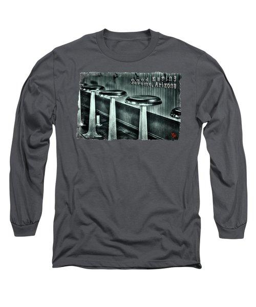 Empty Counter Stools Jerome Arizona Long Sleeve T-Shirt