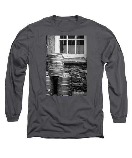 Empty In Edinburgh Long Sleeve T-Shirt by Amy Fearn
