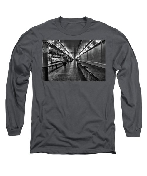 Empty Pike Place Market In Seattle Long Sleeve T-Shirt