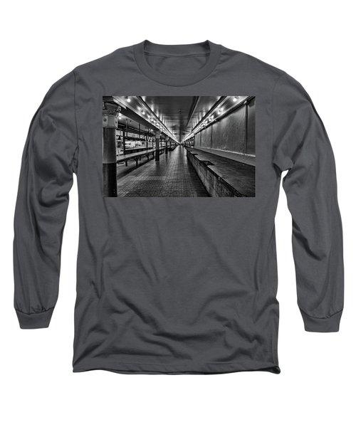 Empty Pike Place Market In Seattle Long Sleeve T-Shirt