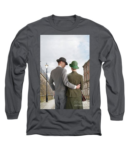 Empty Street With Victorian Buildings Long Sleeve T-Shirt