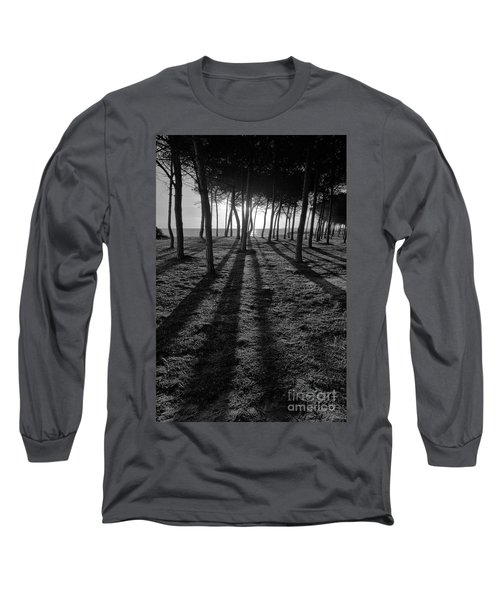 Enchanted Sunset In Monochrome Long Sleeve T-Shirt by Angelo DeVal