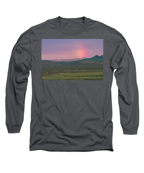 Long Sleeve T-Shirt featuring the photograph End Of Rainbow by Hitendra SINKAR