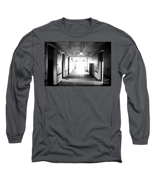 End Of The Hall Long Sleeve T-Shirt by Randall Cogle