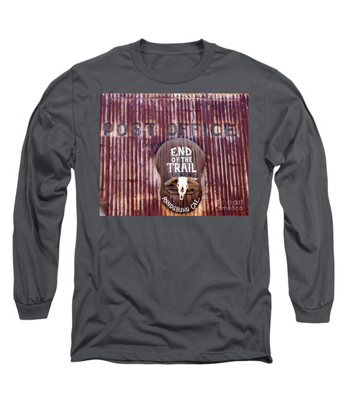 End Of The Trail Long Sleeve T-Shirt by Suzanne Lorenz