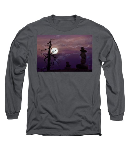 End Of Trail Long Sleeve T-Shirt by Ed Hall