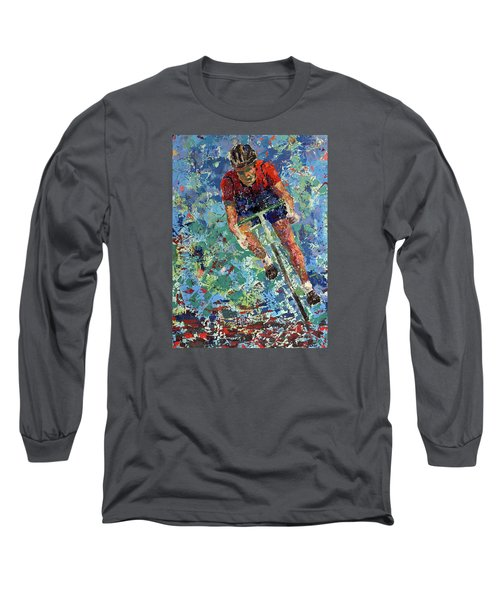 Long Sleeve T-Shirt featuring the painting Enduring The Last Mile by Walter Fahmy