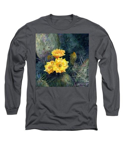 Engelmann Prickly Pear Cactus Long Sleeve T-Shirt