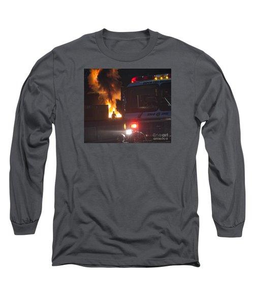 Engine 6 Long Sleeve T-Shirt by Jim Lepard