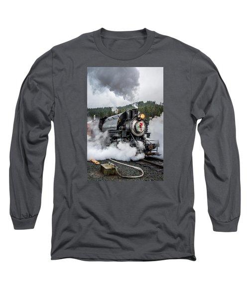 Engine No. 17 Elbe Christmas Train Long Sleeve T-Shirt