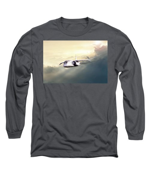 Long Sleeve T-Shirt featuring the digital art English Enigma by Peter Chilelli