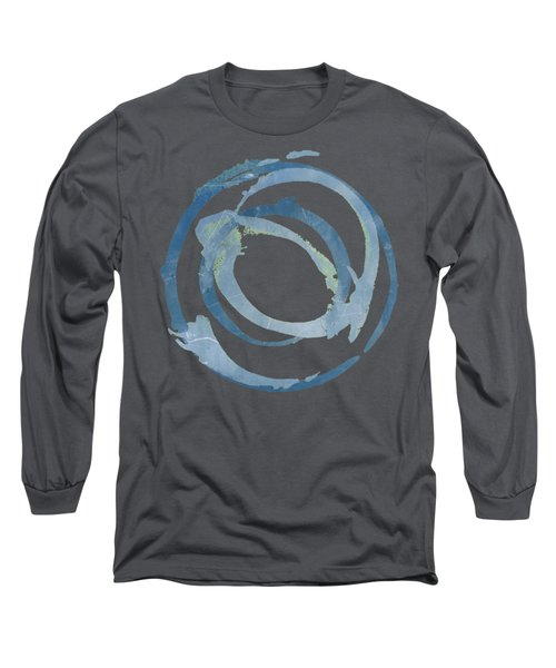 Long Sleeve T-Shirt featuring the painting Enso T Multi by Julie Niemela